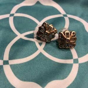 Kendra Scott rose gold geometric studs - brand new